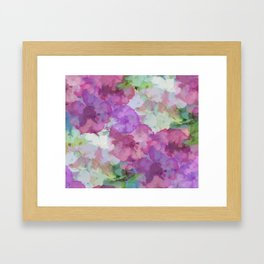 Sweet Peas Floral Abstract Framed Art Print
