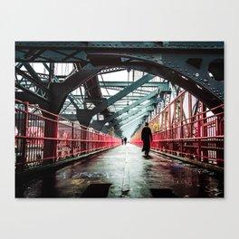 New York City Williamsburg Bridge in the Rain Canvas Print