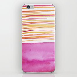 26   |181026 Lines & Color Block | Watercolor Abstract | Modern Watercolor Art iPhone Skin