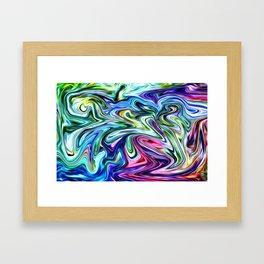 Electric Blues Framed Art Print