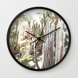 Silver Torch Cactus Wall Clock