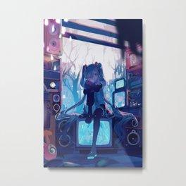 Hatsune Miku Metal Print