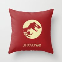 jurassic park Throw Pillows featuring Jurassic Park by :: Fan art ::