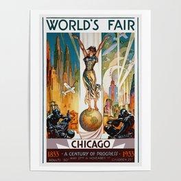 Vintage World's Fair Chicago IL 1933 Poster