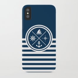 Sailing symbols iPhone Case