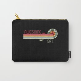 May 1971 50 th Birthday Years Old Carry-All Pouch