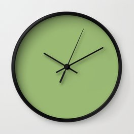 Simply Olive Green Wall Clock