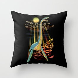 Loch Ness Plesiosaur  Throw Pillow