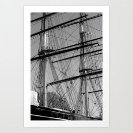 Masts and Rigging of the Cutty Sark Art Print