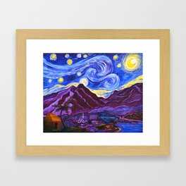 Maui Starry Night Framed Art Print