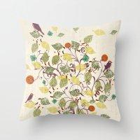 autumn Throw Pillows featuring Autumn by Kakel