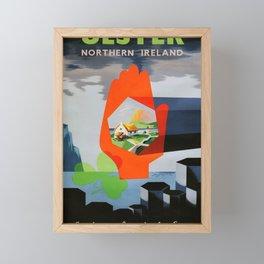vintage Plakat Ulster Framed Mini Art Print