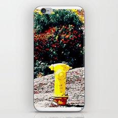 Yellow Fire Hydrant Comics iPhone & iPod Skin