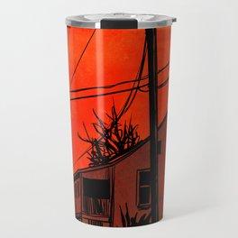 red sky 01 Travel Mug