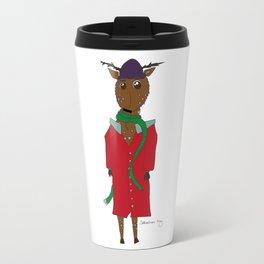 Diego the Deer in Winter Travel Mug