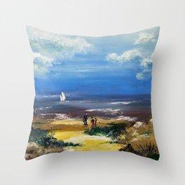 A marée basse Throw Pillow
