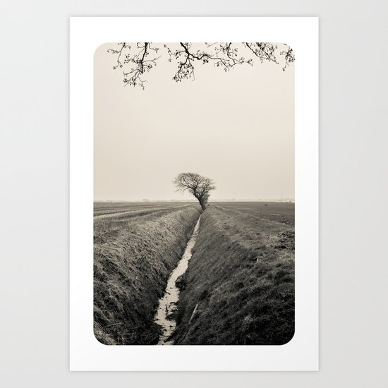 B&W Landscape Triptych III Art Print