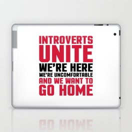 Introverts Unite Funny Quote Laptop & iPad Skin