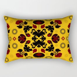 Fiesta Folk Yellow #society6 #folk Rectangular Pillow