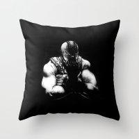 bane Throw Pillows featuring Bane by NickHarriganArtwork