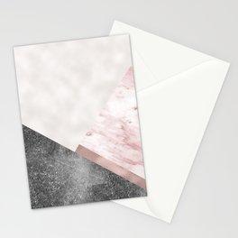 Rose grunge - geo layers II Stationery Cards