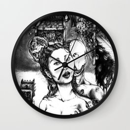 Random Collisions Of Pasts Through Paths Of Desire Wall Clock