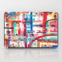 headphones iPad Cases featuring Headphones by JillAshleyFortinART