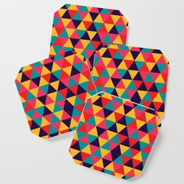 Colorful Triangles (Bright Colors) Coaster