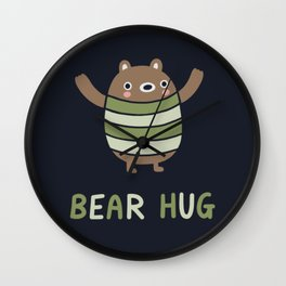 Bear Hug Wall Clock