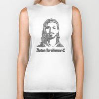 zlatan Biker Tanks featuring Zlatan  by christoph_loves_drawing