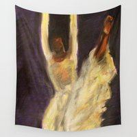 dancer Wall Tapestries featuring Dancer by EBY-S
