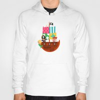 pirate ship Hoodies featuring PIRATE SHIP (AQUATIC VEHICLES) by Alapapaju