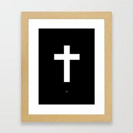 White Cross Framed Art Print