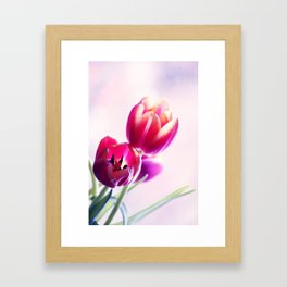 Happy Tulip Greetings Framed Art Print