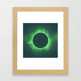 Solar Eclipse in Calcite Colors Framed Art Print