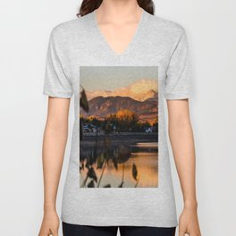 Crisp Rocky Mountain Morning Unisex V-Neck