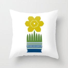 Nordic Yellow Flower Throw Pillow