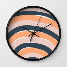 Rainbow stripes minimal art Wall Clock