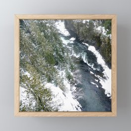 Cold stream Framed Mini Art Print