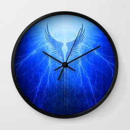 Vikings Valkyrie Wings of Protection Storm Wall Clock
