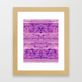 Purple Shower Mold Framed Art Print