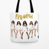 fifth harmony Tote Bags featuring Fifth Harmony Boss by TSMM