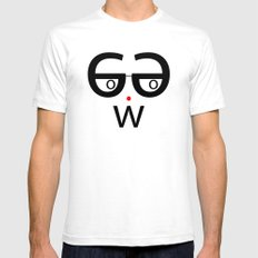 Neue Nerd Mens Fitted Tee White SMALL