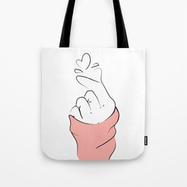 korean Hand - LOve Gesture Tote Bag