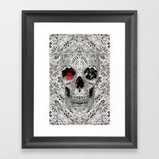 Lace Skull Light Framed Art Print