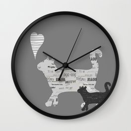 MIAU Wall Clock