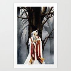 Winter Wizard Art Print