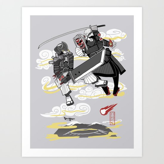 Final Samurai VII Art Print