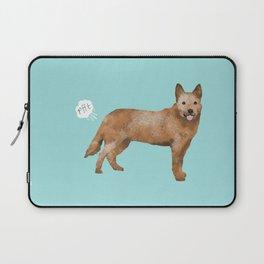Australian Cattle Dog red heeler funny fart dog breed gifts Laptop Sleeve