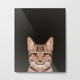 Ripley - Tabby Cat cute cat gifts for cat people and cat lady gift ideas for the cat lover  Metal Print